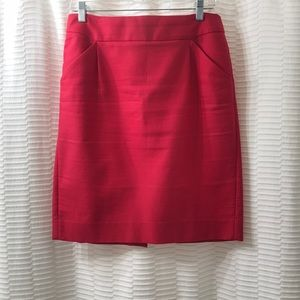 J. Crew Factory red pencil skirt